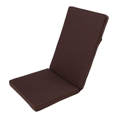 Cuscino per sedia marrone 49x120 cm