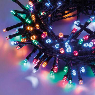 Catena luminosa 450 lampadine LED multicolore 1850 cm