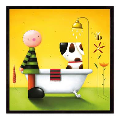 Stampa incorniciata Bath time 25.7x25.7 cm