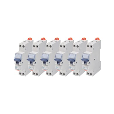 Interruttore magnetotermico GEWISS GW90026DY 1P +N 10A 4.5kA C 1 modulo 230V