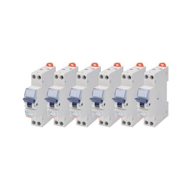 Interruttore magnetotermico GEWISS GW90027DY 1P +N 16A 4.5kA C 1 modulo 230V