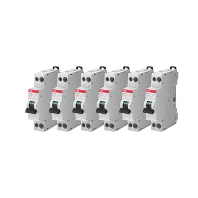Interruttore magnetotermico ABB Kit 6 pz  SN201 L C10 1P+N 10A 4.5kA C 1 modulo 230V
