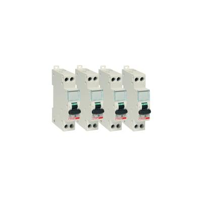 Interruttore magnetotermico BTICINO FC881C10 1P +N 10A 4.5kA C 1 modulo 230V