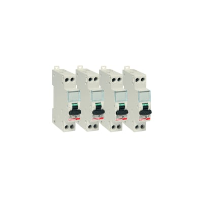 Interruttore magnetotermico BTICINO Kit 4 pz BTDIN-RS 1P+N 10A 4.5kA C 1 modulo 230V