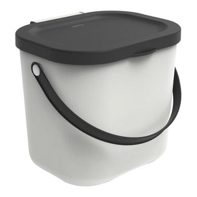 Pattumiera Albula manuale bianco 6 L