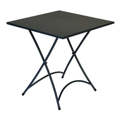 Tavolo da giardino quadrato con piano in ferro L 70 x P 70 cm