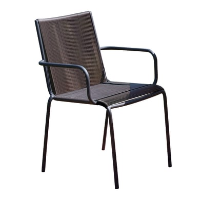 Sedia CC 47M colore antracite, filo marrone