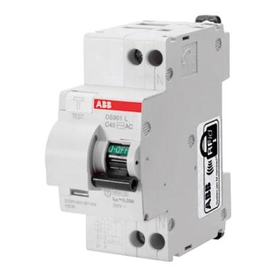 Interruttore magnetotermico differenziale ABB KIT DS 901 L C16 30mA / AC 1 polo 16A 4.5kA 30mA AC 2 moduli 230V