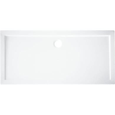 Piatto doccia acrilico rinforzato fibra di vetro Essential 70 x 170 cm bianco