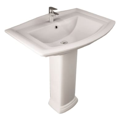 Colonna per lavabo washington H 68 cm in ceramica bianco