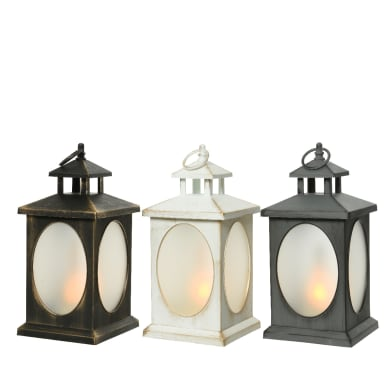 Lanterna con candele H 29.5 cm