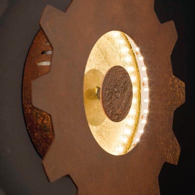 Applique industriale LEIF LED integrato giallo / dorato, in metallo, 20x20 cm, WOFI