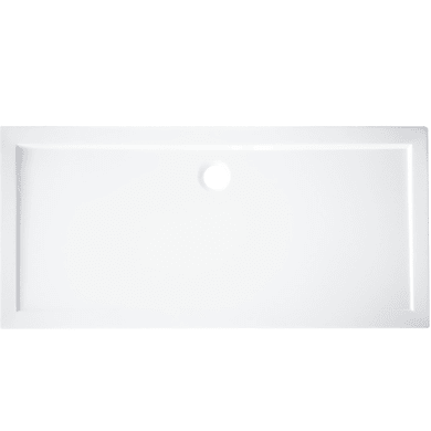 Piatto doccia acrilico rinforzato fibra di vetro Essential 80 x 140 cm bianco