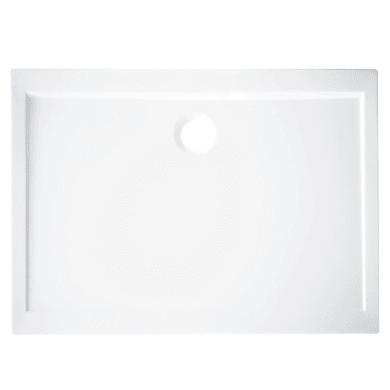 Piatto doccia acrilico rinforzato fibra di vetro Essential 70 x 100 cm bianco