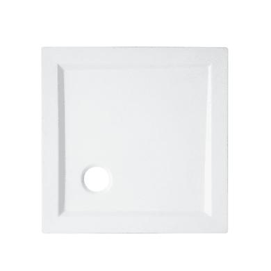 Piatto doccia acrilico rinforzato fibra di vetro Essential 70 x 70 cm bianco