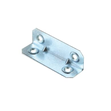 Piastrina in acciaio zincato 67 x 21 mm