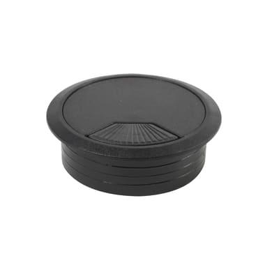 Copri passa-cavo in plastica nero Ø 60 mm