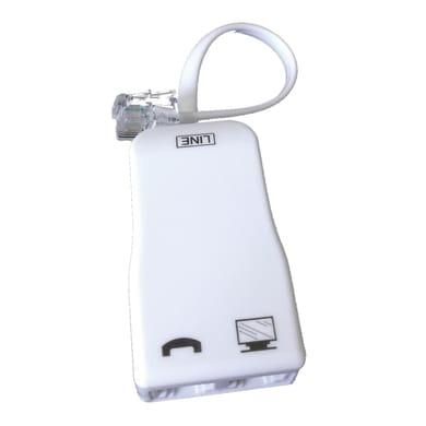 Filtro adsl RJ11 Adattatore ADSL bianco