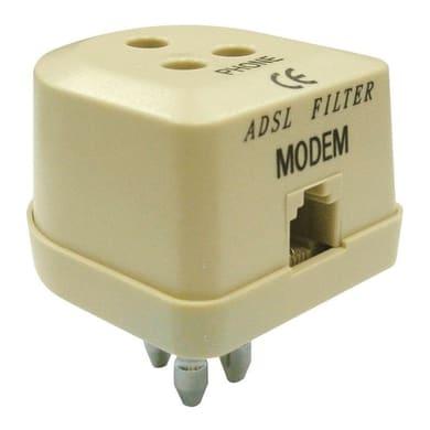 Filtro adsl Adattatore ADSL marrone
