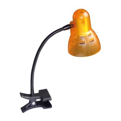 Lampada da scrivania Clip arancione, in plastica, E14 MAX40W IP20