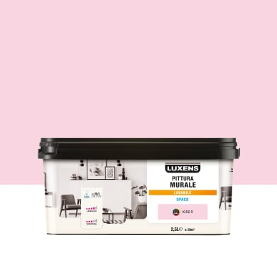 Pittura murale LUXENS 2.5 L rosa kiss 5