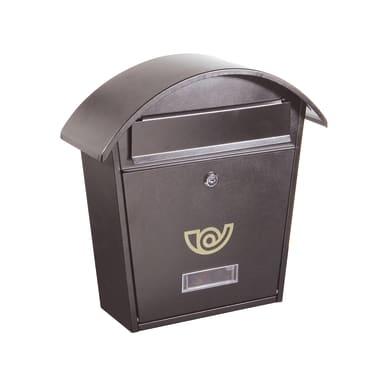 Cassetta postale ALUBOX formato Rivista, grigio / argento , L 36.5 x P 12 x H 37 cm