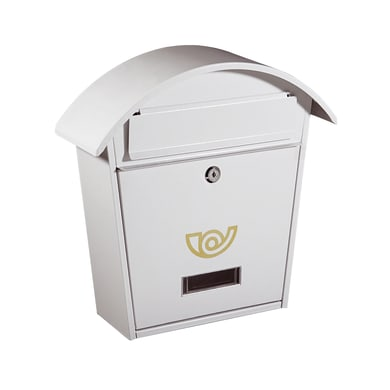 Cassetta postale ALUBOX formato Rivista, bianco , L 36.5 x P 12 x H 37 cm