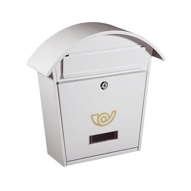 Cassetta postale ALUBOX formato Rivista, bianco, L 36.5 x P 12 x H 37 cm