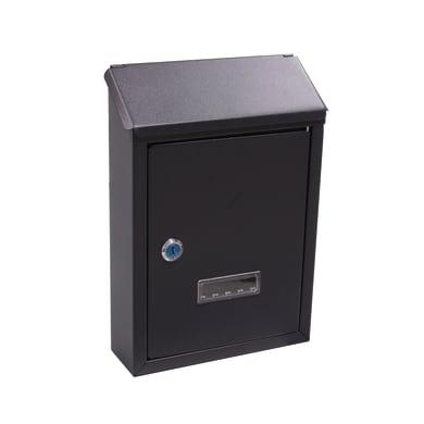 Cassetta postale ALUBOX formato Lettera, nero , L 21.5 x P 6.5 x H 30.5 cm