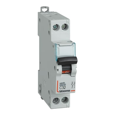 Interruttore magnetotermico BTICINO FN881C32 1P +N 32A 6kA C 1 modulo