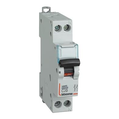 Interruttore magnetotermico BTICINO SFN881C20 1P +N 20A 6kA C 1 modulo