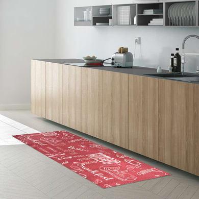Tappeto Blackboard , rosso, 45x75 cm