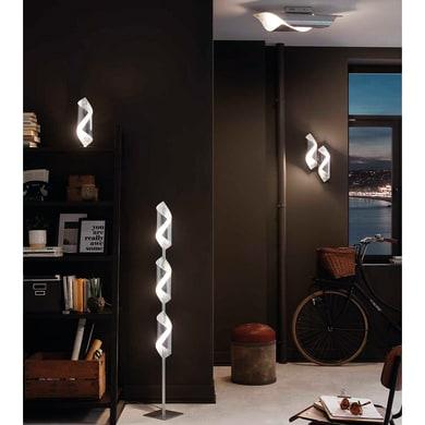 Applique glamour Safira LED integrato grigio / argento, in metallo, 42x21 cm, WOFI