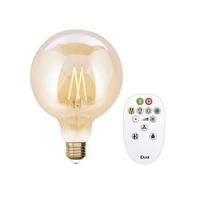 Lampadina LED, E27, Globo, Ambra, Luce calda, 9W=806LM (equiv 60 W), 330° , JEDI