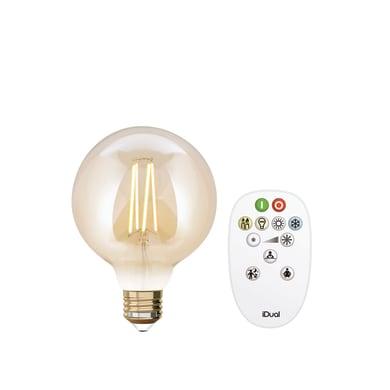 Lampadina Filamento LED E27 globo variazione dei bianchi 9W = 806LM (equiv 60W) 330° JEDI