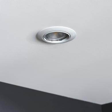 Set da 10 pezzi Faretto orientabile da incasso tondo Clane  in Alluminio bianco, diam. 8.2 cm GU10 10x6W IP23 INSPIRE