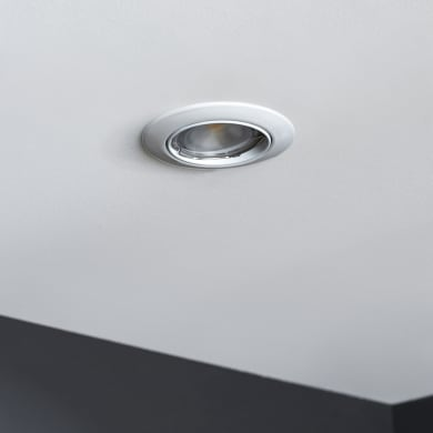 Set da 3 pezzi Faretto orientabile da incasso tondo Clane  in Alluminio bianco, diam. 8.2 cm GU10 6W IP23 INSPIRE