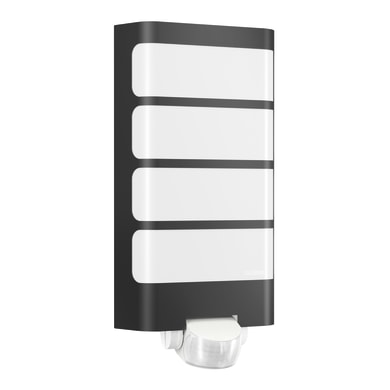 Applique Sensor LED integrato in plastica, antracite, 7.5W 500LM IP44 STEINEL
