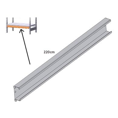 Reggimensola in metallo KOMPOS-MCP22 L 220 x H 10 x P 3 cm grigio / argento martellato
