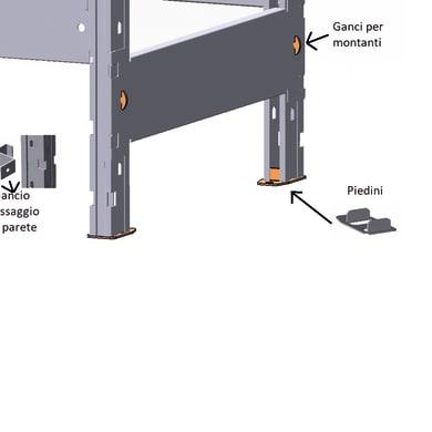 Accessori di fissaggio KOMPOS-GSTP L 3 x P 10 x H 3 cm grigio / argento