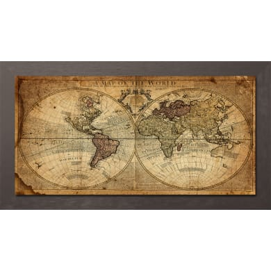 Quadro con cornice Map 136x76 cm