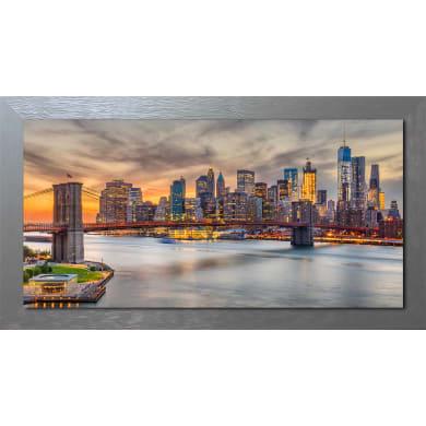 Quadro con cornice Sunset 136x76 cm