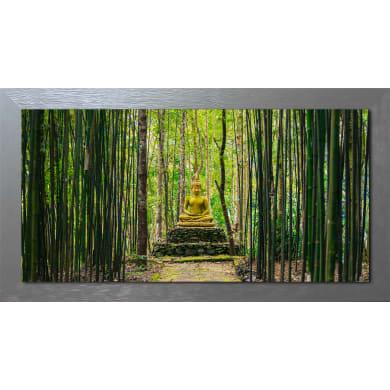 Quadro con cornice Buddha 136x76 cm