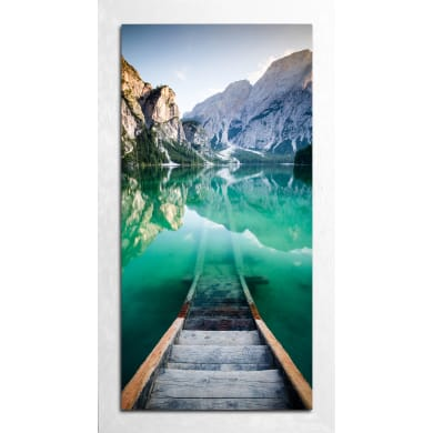 Quadro con cornice Lago 136x76 cm