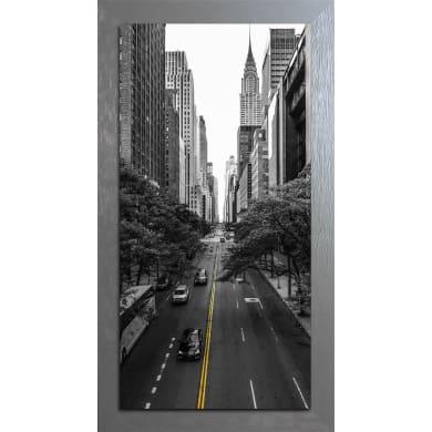 Quadro con cornice City B&W 136x76 cm