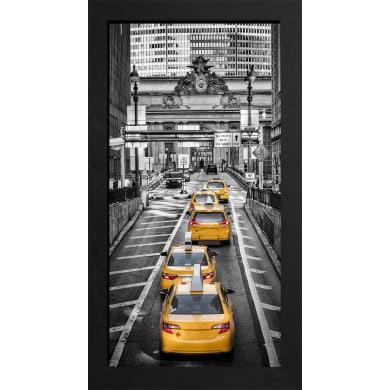 Quadro con cornice Taxi B&W 136x76 cm
