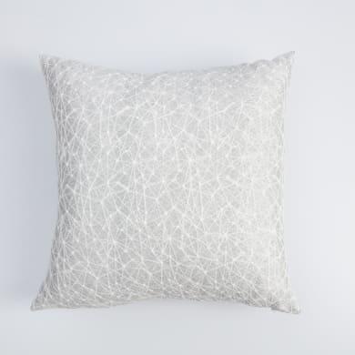 Cuscino Kacie bianco e argento 40x40 cm