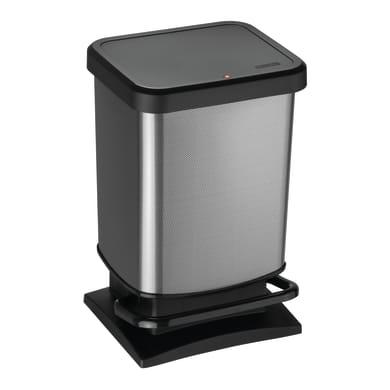 Pattumiera Paso Carbon a pedale nero 20 L