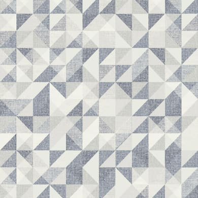 Carta da parati Frammenti blu e grigio