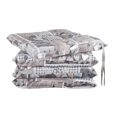 Cuscino per sedia Cuore grigio 40x40 cm